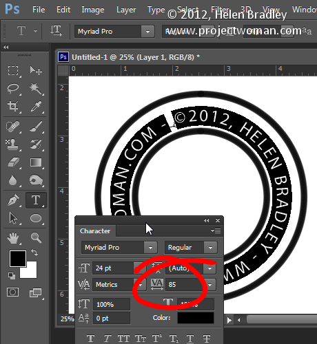 make a watermark image in photoshop step8 Photoshop Tip   Create an Image Watermark