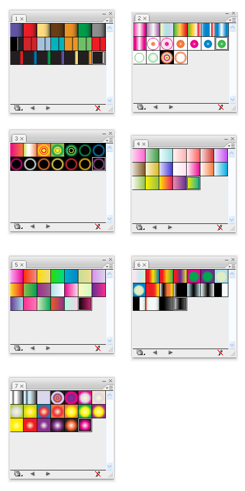 6 Sites for free Illustrator Gradient Swatches