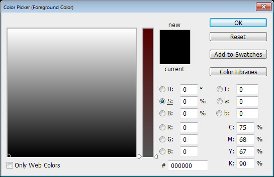 Photoshop Color Picker HSL s channel Help! My Photoshop Color Picker looks weird