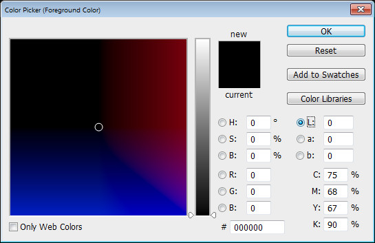 Photoshop Color Picker Lab L channel Help! My Photoshop Color Picker looks weird