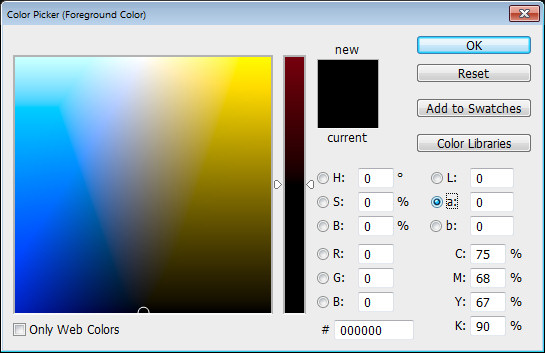 Photoshop Color Picker Lab a channel Help! My Photoshop Color Picker looks weird
