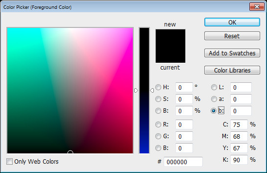 Photoshop Color Picker Lab b channel Help! My Photoshop Color Picker looks weird