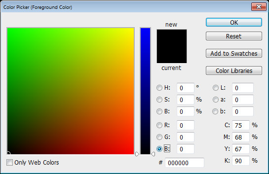 Photoshop Color Picker RGB b channel Help! My Photoshop Color Picker looks weird