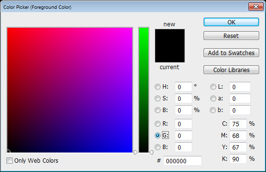 Photoshop Color Picker RGB g channel Help! My Photoshop Color Picker looks weird