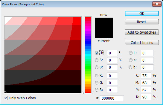 Photoshop Color Picker Web colors Help! My Photoshop Color Picker looks weird