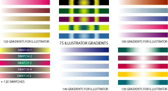 vectorportalgradients 6 Sites for free Illustrator Gradient Swatches