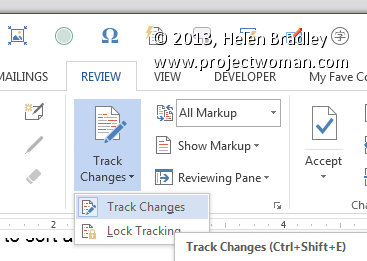 how to delete markup in word
