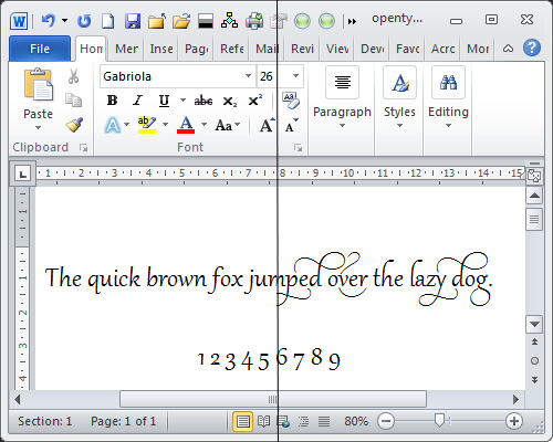 Use Opentype To Beautify Fonts In Word 2010 2013 Projectwomancom