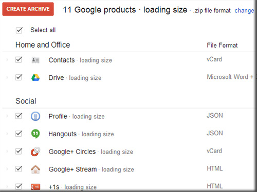 archive1 Create an Archive of Your Entire Google Account
