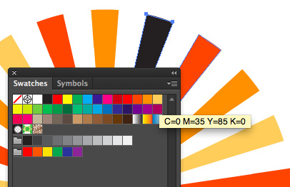 multi color sunburst in illustrator 2 Multicolor Sunburst in Illustrator