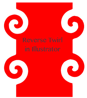 reverse twirl tool in illustrator 1 Illustrator   reverse the twirl tool