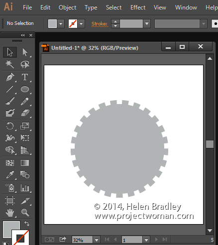 create a gear shape in illustrator 5 Create a stepped edge gear shape in Illustrator
