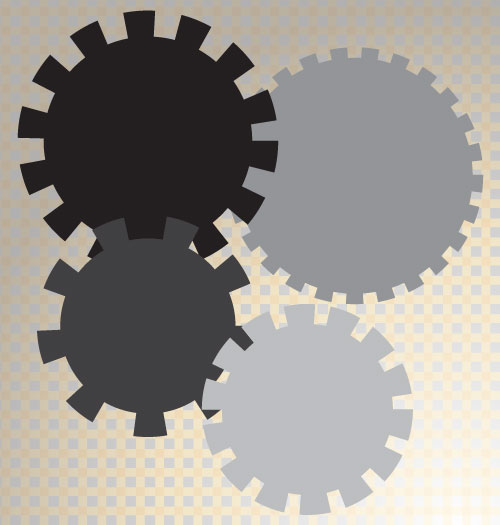 gears in illustrator Create a stepped edge gear shape in Illustrator