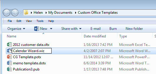 Install Microsoft calendar wizard for Word 2013 3 Calendar Wizard in Word 2013   Yes!