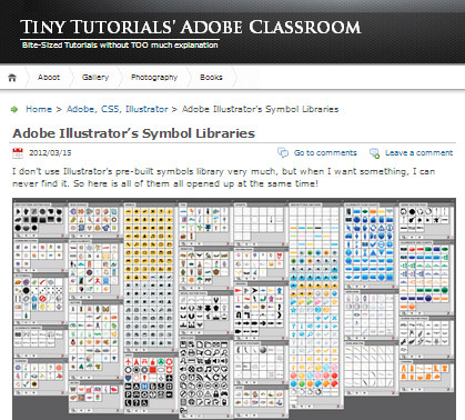all illustrators symbols from its symbol libraries in one easy to view screenshot What Symbols are Included in Illustrator