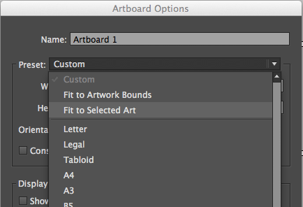 resize artboard to the size of your art in Illustrator