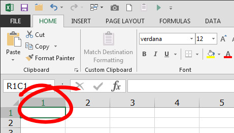 help excel shows columns as numbers not letters