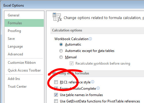 how to return the column letter in excel