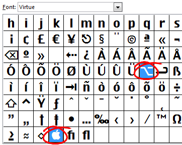 type mac alt and apple key symbol on a pc 2 Add Mac Keyboard Icons to Word documents (and other things)