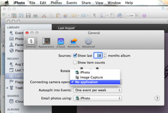 stop iphoto from launching when you insert a camera card Stop iPhoto from Importing your Photos