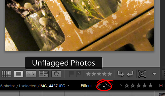 find unflagged photos in lightroom using the filter bar Find Unflagged Photos in Lightroom