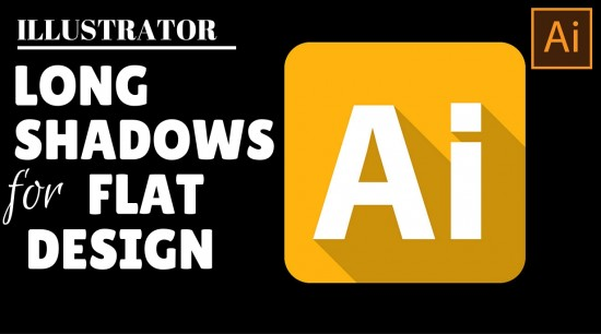 long shadows flat design illustrator