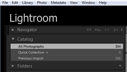 Find files by name in Lightroom 1 Find files by name in Lightroom