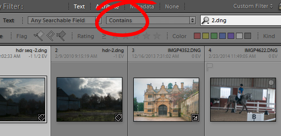 Find files by name in Lightroom 4 Find files by name in Lightroom