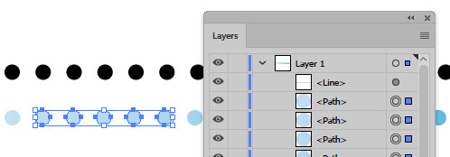 how to extract vector dots from a dotted stroke